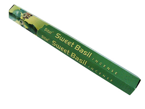 スパイシーなバジルがまろやかに香るお香 お香 シタル スイートバジル香 新作からSALEアイテム等お得な商品満載 スティック SITAL SWEET ディスカウント BASIL 6箱毎に送料1通分が掛かります ポスト投函配送選択可能です アジアン雑貨 インセンス インド香
