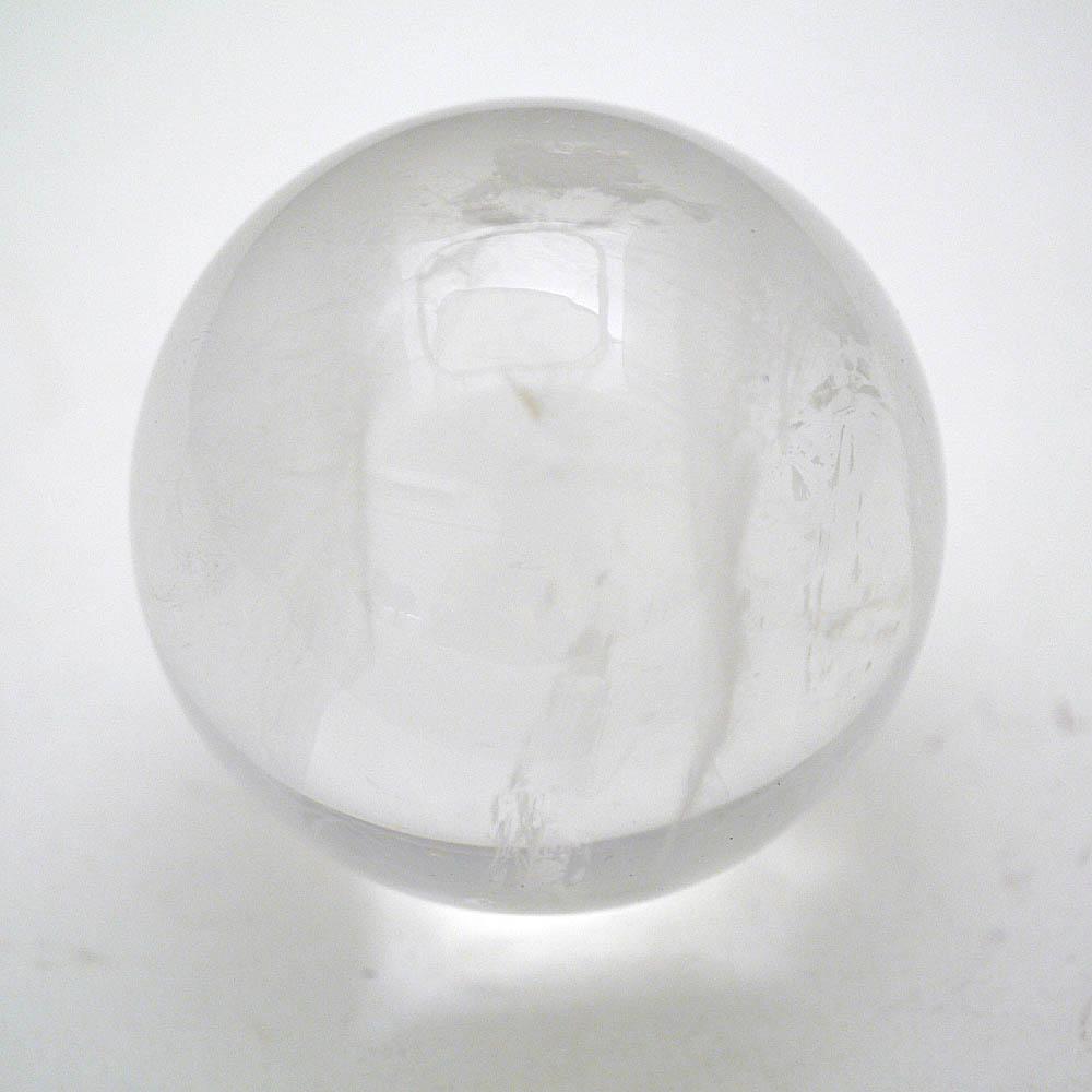 天然本水晶 丸玉 61.4mm/322g /天然石・置物