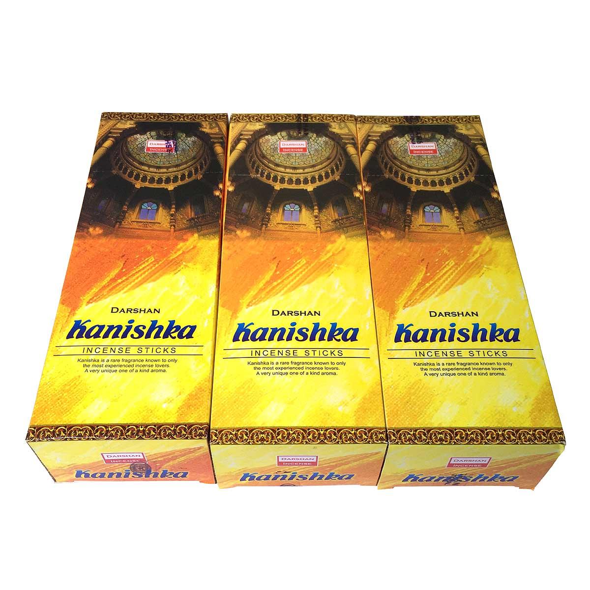 限定品 お香 卸おまとめプライス インド香 ダルシャン カニシュカ香スティック 卸おまとめプライス3BOX 18箱 インセンス KANISHKA 正規店 DARSHAN ネコポス送料無料