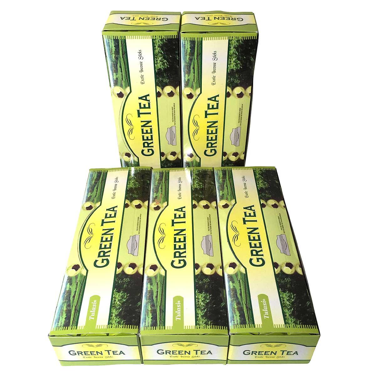 お香 70%OFFアウトレット 卸おまとめプライス インド香 グリーンティー香 スティック 卸おまとめプライス5BOX 買物 TEA 送料無料 TULASI GREEN 30箱