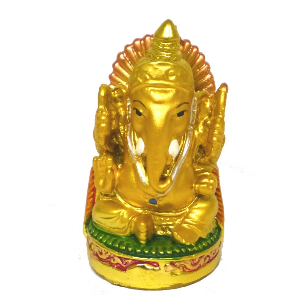NEW ARRIVAL 小さめでかわいいカラフルなガネーシャの置物です インドの神様ガネーシャの置物 カラフルバージョン7 SMALLサイズ アジアン雑貨 評判 エスニック