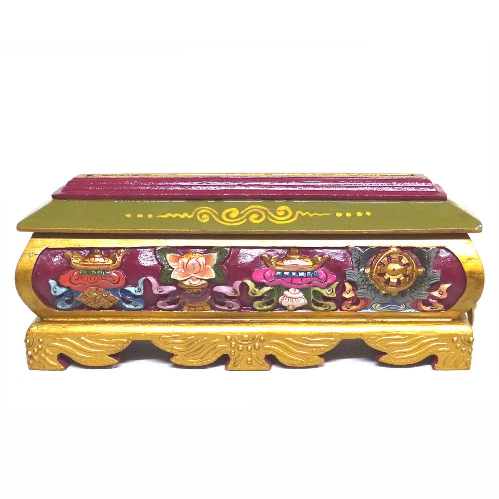 チベットのお香たて!(チベット香炉その4/サイズ大)1個1個すべて手作りのインセンスホルダー/インド香やネパール香、チベット香などに!/お香立て