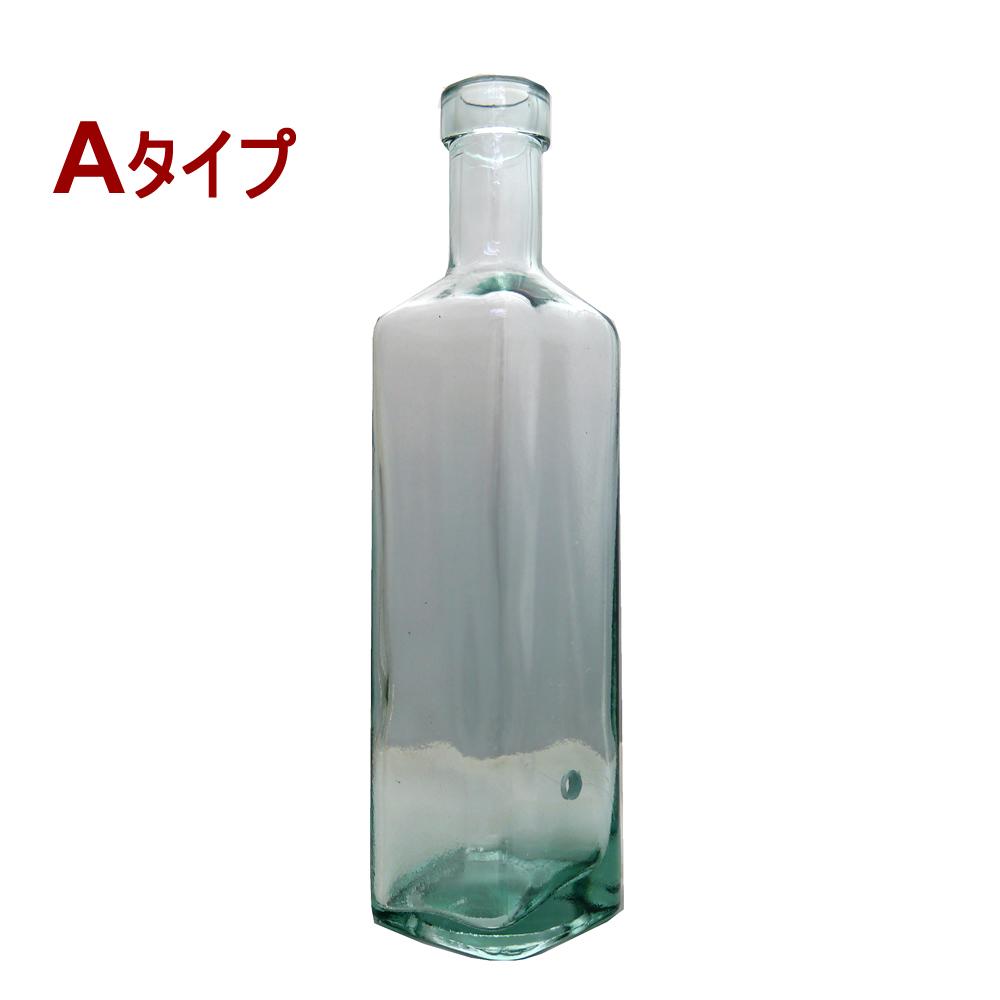 贈答品 引き出物 リサイクルガラス製のボトル型お香立てです リサイクルガラスのボトル型吊り下げ式お香たて Aタイプ インド香やネパール香のお香立てに 1個1個すべて手作りのガラスインセンスホルダー