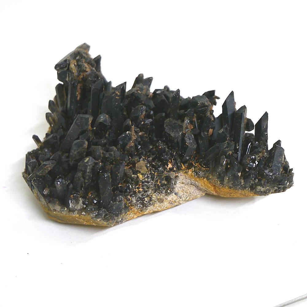 チベット産黒水晶(モリオン/ケアンゴーム)クラスター 1点物 (約1629g)/ 天然石・置き物