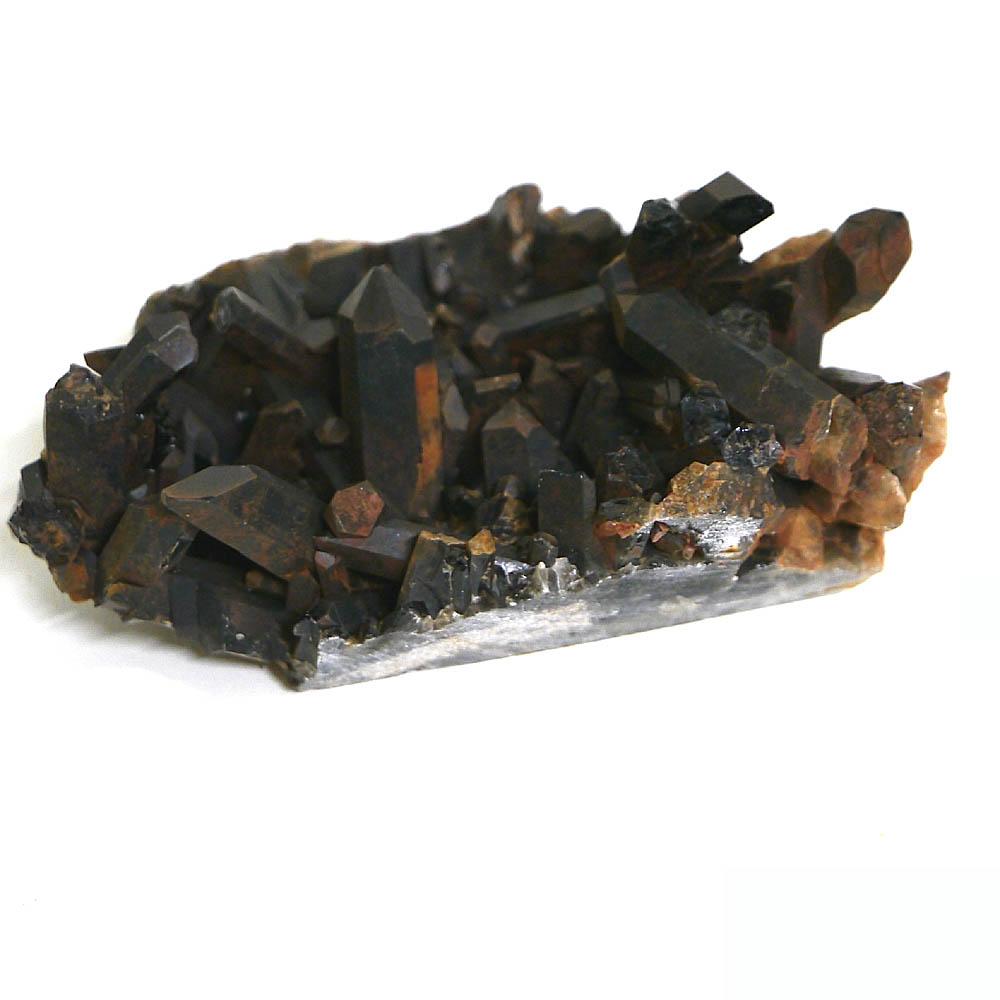 チベット産黒水晶(モリオン/ケアンゴーム)クラスター 1点物 (cluster-MORN14/約501.5g)/ 天然石・置き物