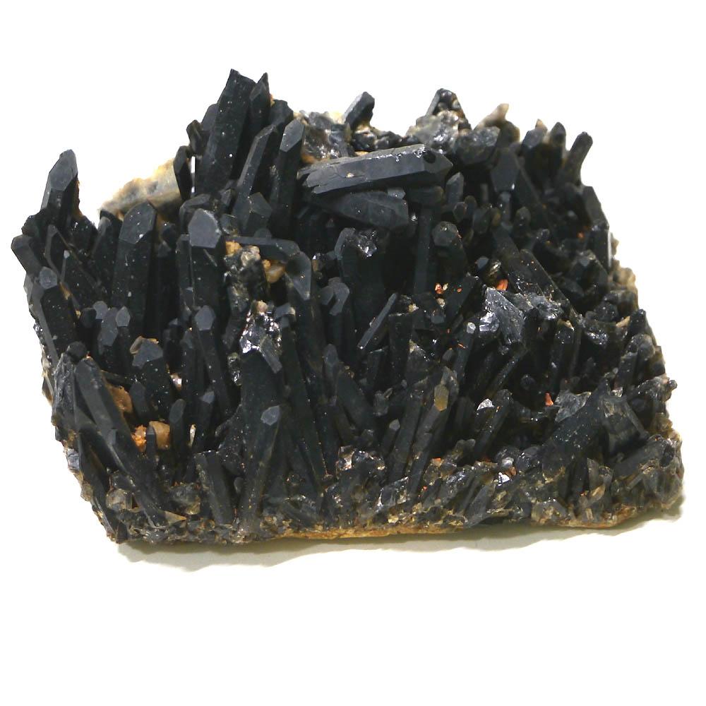 チベット産黒水晶(モリオン/ケアンゴーム)クラスター 1点物 (約1780g)/ 天然石・置き物