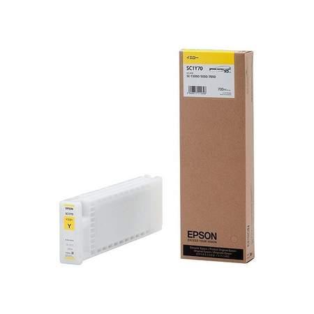 EPSON 純正インク 今ダケ送料無料 SC1Y70S SC-T3050 SC-T5050 送料無料 700ml 国際ブランド SC-T7050用 エプソン イエロー