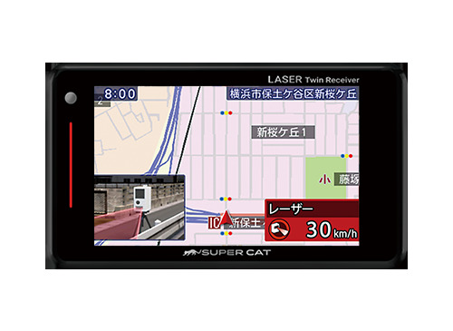 ★SUPER CAT /LS300GPSアンテナ内蔵 レーザー&レーダー探知機LS300