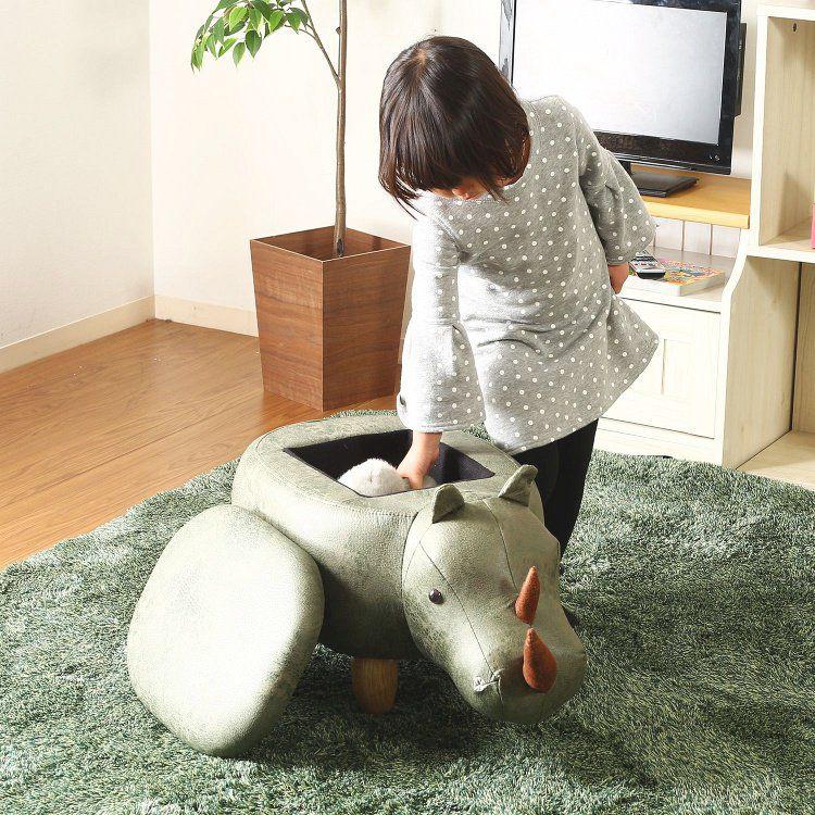 アニマルスツール おしゃれ 即納 サイ 収納付き 幅67×奥行34×高さ37cm 日本正規品 スツール 動物