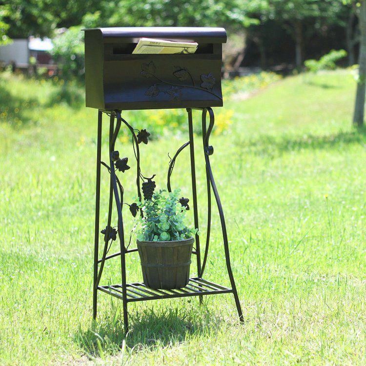 郵便ポスト おしゃれ 郵便受け 幅42.5×奥行34.5×高さ99cm メールボックス 25%OFF ブラウン ファクトリーアウトレット
