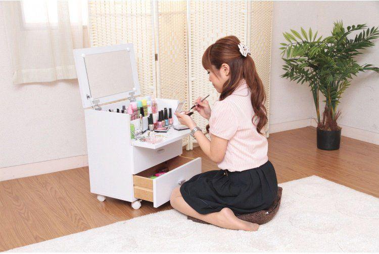 ドレッサー おしゃれ かわいい 化粧台 ホワイト 格安 価格でご提供いたします 幅45×奥行31×高さ53cm 即納送料無料!