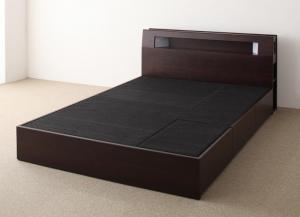 収納付きベッド ダブル フレームのみ