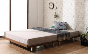 デザインベッド セミダブル マットレス付き プレミアムポケットコイル スチール脚タイプ フルレイアウト:フレーム幅120 セミダブルベッド