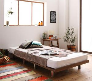ショート丈デザインベッド シングル マットレス付き スタンダードポケットコイル スチール脚タイプ フルレイアウト:フレーム幅100 シングルベッド