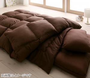 ロイヤルゴールドラベル羽毛布団8点セット シングル ボリュームタイプ 日本製ウクライナ産グースダウン93%