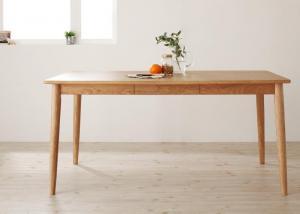 ダイニングテーブル 天然木タモ無垢材ダイニング(W150)
