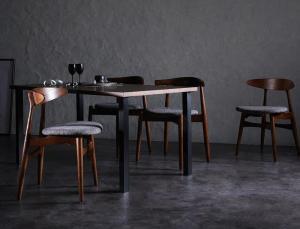 デザイナーズダイニングセット 5点MIXセット(テーブル+チェアA×2+チェアB×2)