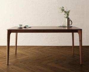 ダイニングテーブル おしゃれ 天然木 ウォールナット無垢材 ハイバックチェア ダイニングテーブル W150