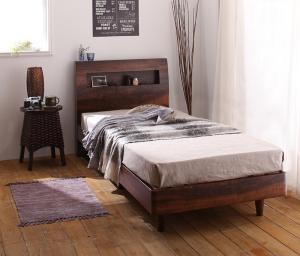 すのこベッド セミシングルベッド マットレス付き ポケットコイル(ハード) 棚・コンセント・すのこベッド