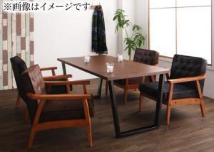 ダイニングテーブルセット 4人掛け おしゃれ ヴィンテージ ダイニングソファ 5点セット(テーブル幅120/1Pソファ4脚) ダイニングソファーセット