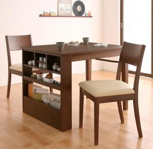 ダイニングテーブルセット 2人掛け おしゃれ コンパクト伸縮ダイニング 3点セット(テーブル幅100-135/チェア2脚)