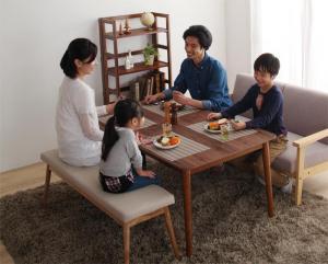 こたつテーブル 長方形(80×135cm) 天然木ウォールナット材高さ調整こたつテーブル おしゃれ