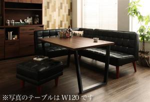 ダイニングテーブルセット 4人掛け 4点セット(テーブル幅150+ソファ+アームソファ+スツール1脚) 左アームタイプ ヴィンテージスタイル おしゃれ