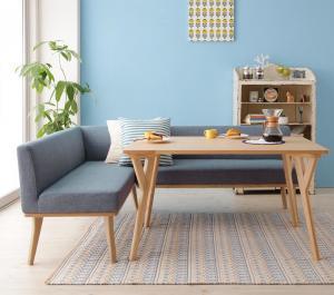 ダイニングテーブルセット 4人掛け 3点セット(テーブル幅120+ソファー+アームソファー) 左アームタイプ 北欧デザイン おしゃれ
