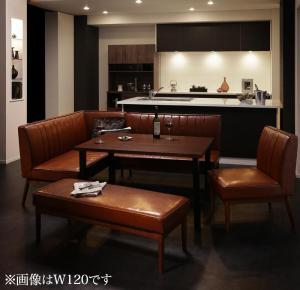 ダイニングテーブルセット 7人掛け 5点セット(テーブル幅150+ソファ+アームソファ+チェア1脚+ベンチ) 左アームタイプ ウォールナット モダン おしゃれ