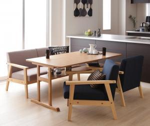 ダイニングテーブルセット 4人掛け おしゃれ 4点セット(テーブル幅150+2Pソファ1脚+1Pソファ2脚) モダンデザイン ダイニングソファーセット