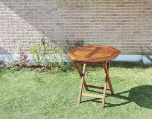 ガーデンテーブル 八角形 おしゃれ W70 チーク天然木 折りたたみ式 リビングガーデン家具