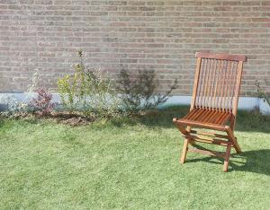 ガーデンチェア 2脚組 おしゃれ 肘なしチェア チーク天然木 折りたたみ式 リビングガーデン家具