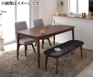 ダイニングテーブルセット 4人掛け おしゃれ 4点セット(テーブル幅115+チェア2脚+ベンチ1脚) 北欧デザイン らくらく回転チェアダイニングベンチセット