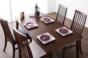 ダイニングテーブルセット 4人掛け おしゃれ 5点セット(テーブル幅150+チェア4脚) ウォールナット材 ハイバックチェアダイニングセット