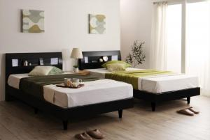 すのこベッド ワイドK200ベッド マットレス付き ボンネルコイル(ハード) 照明・コンセント・すのこベッド