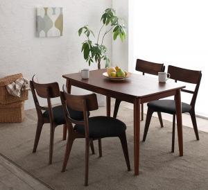 ダイニングテーブルセット 4人掛け おしゃれ 5点セット(テーブル幅115+チェア4脚) モダンデザイン ダイニングセット