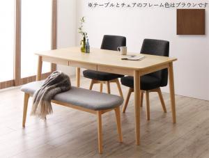 ダイニングテーブルセット 4人掛け おしゃれ 北欧 回転チェア W150 テーブル150+チェア2脚+ベンチ 4人用 ダイニングセット お買得 ブラウン 与え 4点セット