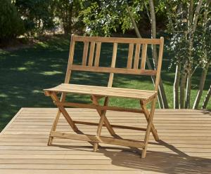 ガーデンベンチ 2人掛け おしゃれ アカシア天然木ガーデン家具