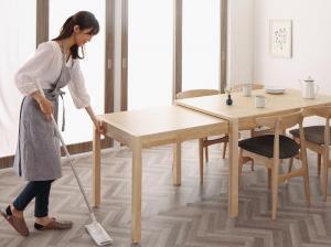 ダイニングテーブル おしゃれ W135-235 北欧デザイン スライド伸縮テーブル