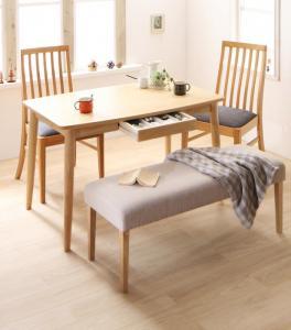 ダイニングテーブルセット おしゃれ セール価格 4人掛け W幅115+チェア×2 天然木 ハイバックチェア 卓出 4点セット ダイニングセット テーブル幅115+チェア×2+ベンチ