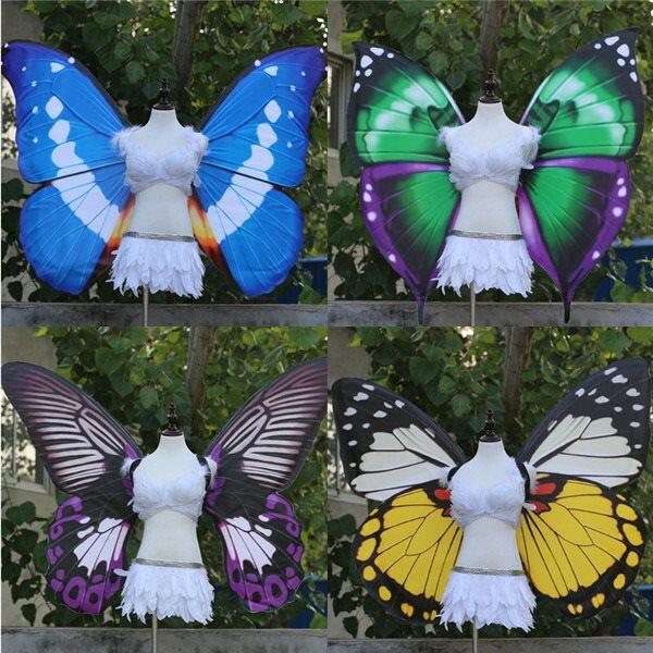 蝶の翼 コスプレ道具 蝶の翼 妖精の翼 プリンセスの翼 華麗さ wing ウイング 120cm 天使みたい 妖精 ファッションショー パーティーグッズ 撮影 ステージ道具 イベント 文化祭 cosplay用 コスプレ COSPLAY コスチューム ハロウィン クリスマスdd010l6l6l6