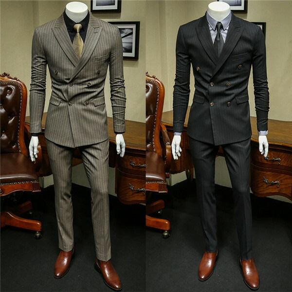 ツーピーススーツ メンズ ビジネススーツ スーツセットアップ ブラック 縞柄 ストライプ コーヒー色 細身 紳士服 結婚式 冠婚 カジュアルスーツ 春 秋 2点セットeg001x1x1x1
