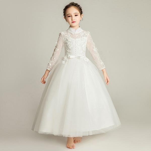 ピアノ発表会 ドレス 子供ドレス ワンピース お姫様 着やせ 上品 エレガント 女の子 結婚式 子供 フォーマル キッズドレス dd669zezel6