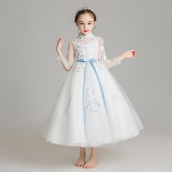 ピアノ発表会 ドレス 子供ドレス ワンピース お姫様 着やせ 上品 エレガント 女の子 結婚式 子供 フォーマル キッズドレス dd679zezel6