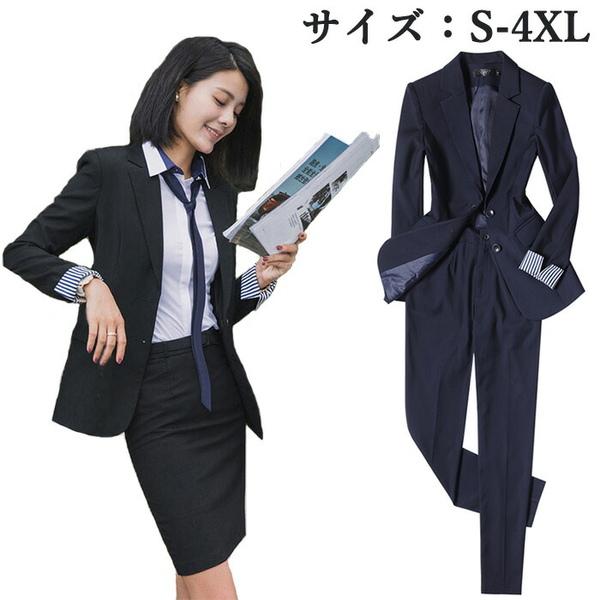 【サイズ有S/M/L/XL/2XL/3XL/4XL】リクルートスーツ ビジネススーツ レディース おすすめ 女性 スーツ おしゃれ セットアップスーツ レディーススーツ パンツスーツ スカートスーツ 通勤制服da101h2h2l6/代引不可