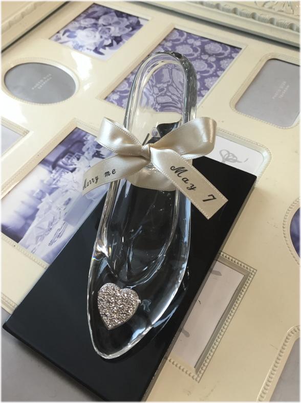 送料無料!ディズニーランドのシンデレラ城☆ガラスの靴☆もちろんガラス製です☆:ホワイトデー プロポーズ