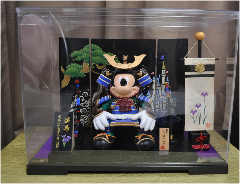 五月人形☆ディズニーランド☆飾り旗とケースとお名前札セットの販売です※五月人形はふくまれません