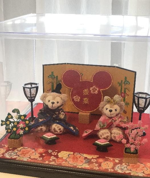 新作!2019☆ケース付☆☆雛人形☆ひなまつり☆ディズニーランド☆ダッフィー2015☆名いれ※当店オリジナル出産祝い