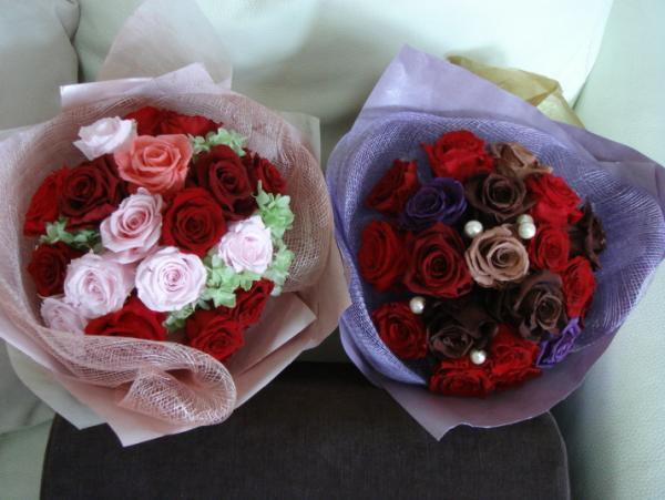♪プリザーブドフラワー豪華花束!バラ20本程度☆プロポーズや還暦やお誕生日祝 母の日