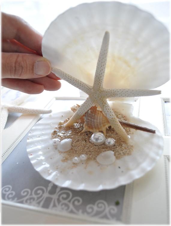 *Summer Wedding*海のイメージ*キラキラ貝殻のSweetリングピロー☆リゾート☆海外挙式 ハワイ☆ビーチ